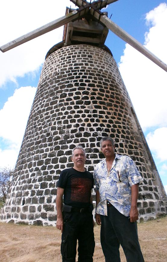 Patrick Baucelin et Dr Reginald Murphy, secrétaire général de la Commission nationale UNESCO Antigua-et-Barbuda