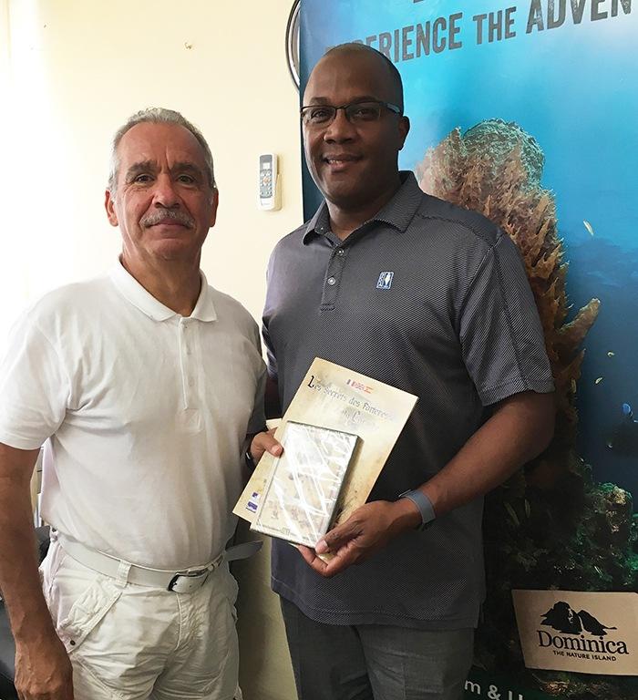 Avec Robert TONGE, Ministre de la Culture et du tourisme de la DOMINIQUE