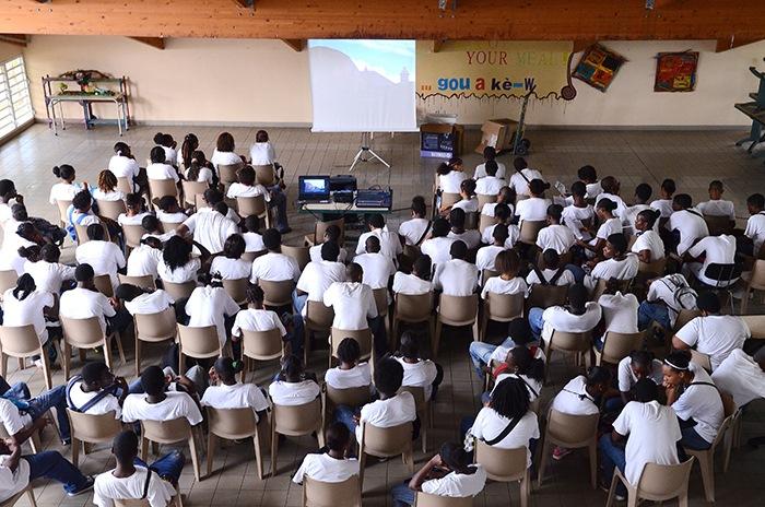 Guadeloupe, projection avec des lycéens