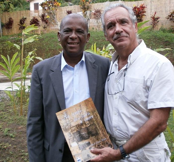 Avec Christian RAPHA, Maire de la ville de Saint-Pierre