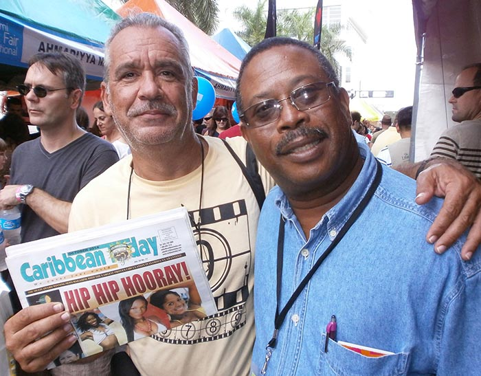 Patrick Baucelin avec Peter WEBLEY Publisher/Owner CARIBBEAN Today