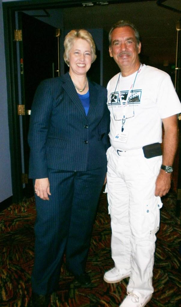Patrick Baucelin au Texas, avec ANNISE PARKER, Maire de HOUSTON en 2014