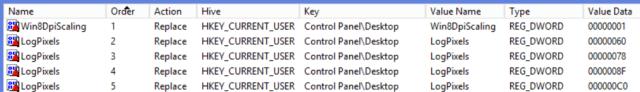 Needed registry keys