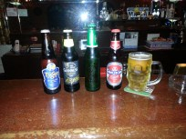 Local beers (Tiger, Guiness, Carlsberg, Anchor)