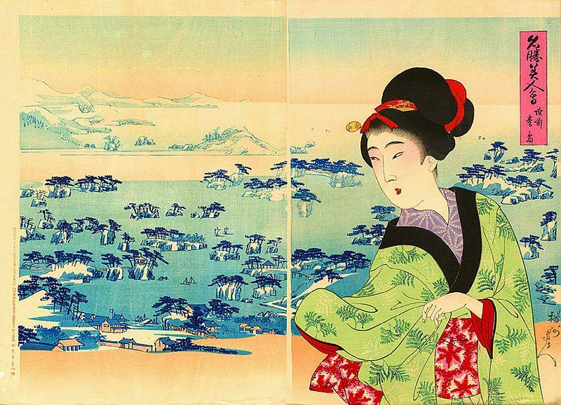 Matsushima, by Yoshu Chikanobu 1898