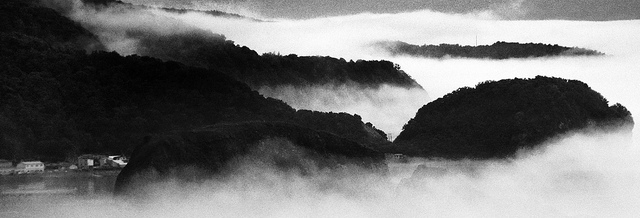 a trip to Shiretoko: fog on the coast