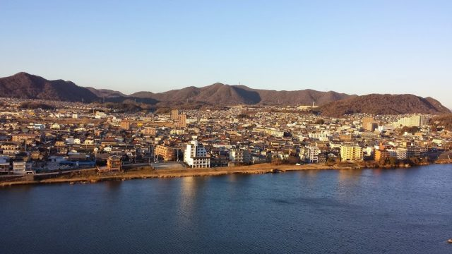 The view from Inuyama castle (photo by Patrick Colgan 2015)