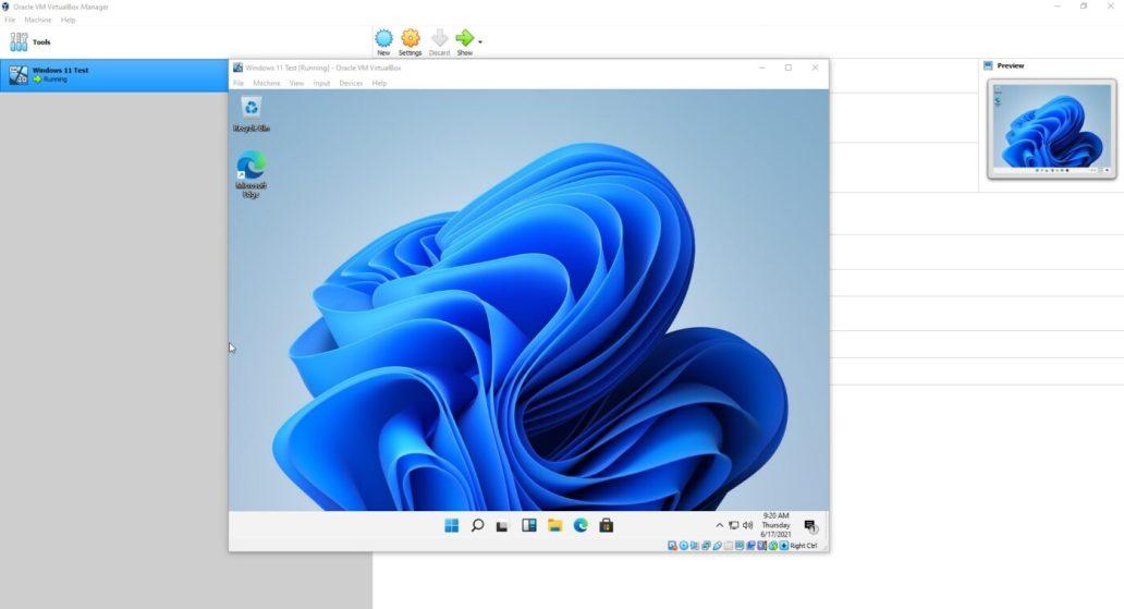Install Windows 11 Within VirtualBox