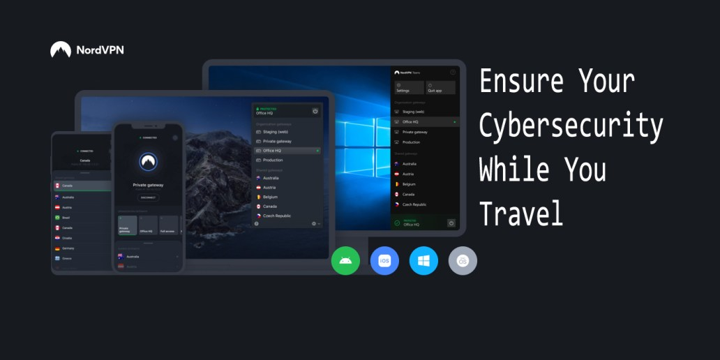 Ensure Your Cybersecurity While You Travel With NordVPN