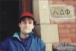 Front door of the Alpha Delta Phi Memorial Chapter