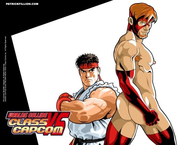 Ryu VS Naked Justice - 1280 X 1024