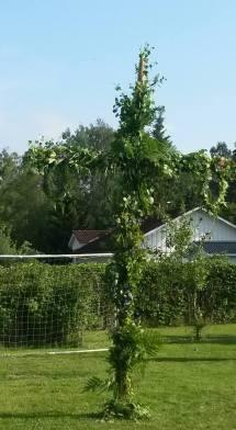 Maypole, midsummer in Sweden.