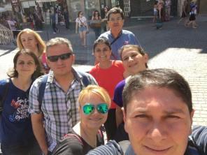 Turkse collega op vakantie in Porto.