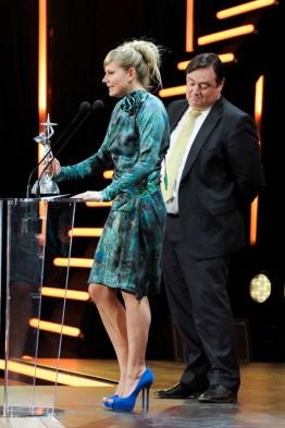 Hasselt, Belgium February 25, 2011 Nacht van de Vlaamse Televisiesterren REPORTERS/VMMA Bart De Wever en Nathalie Meskens