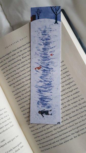 A bookmark painted by Hallie Bateman