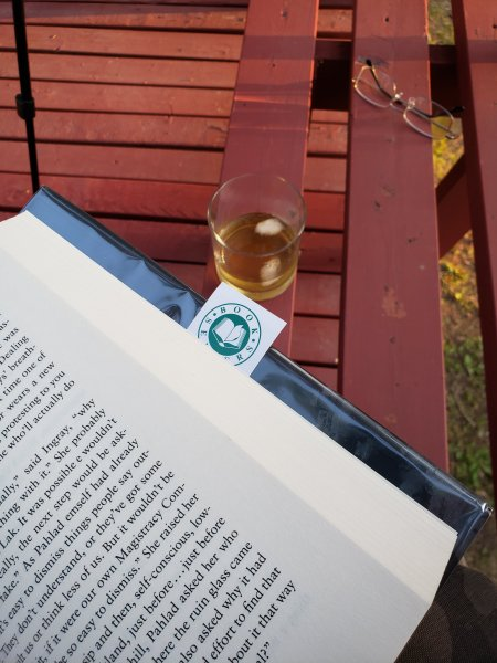 Reading Provenance and sipping Writer's Tears whiskey