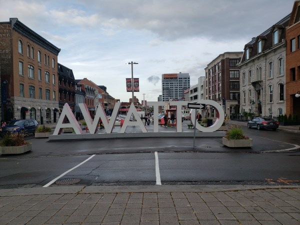 AWATTO - The OTTAWA sign from the back