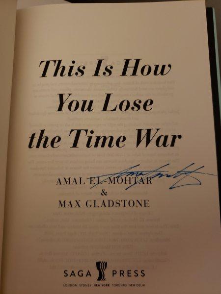 Signed copy of the novel