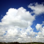 Cloudy prairie sky