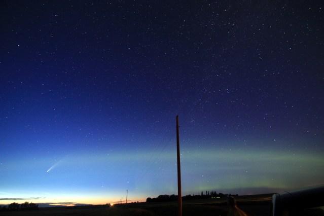Comet + aurora