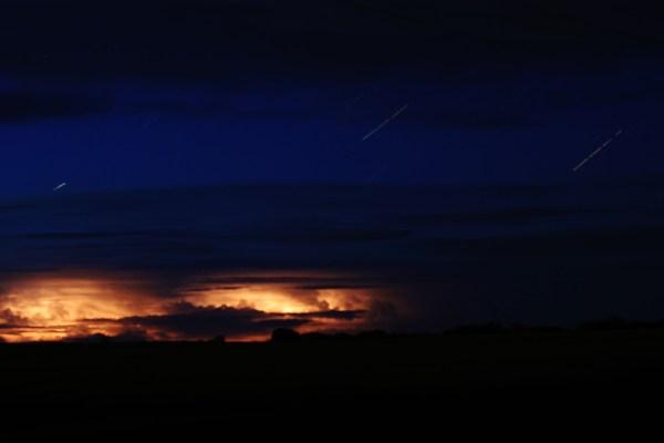 Startrails and Lightning
