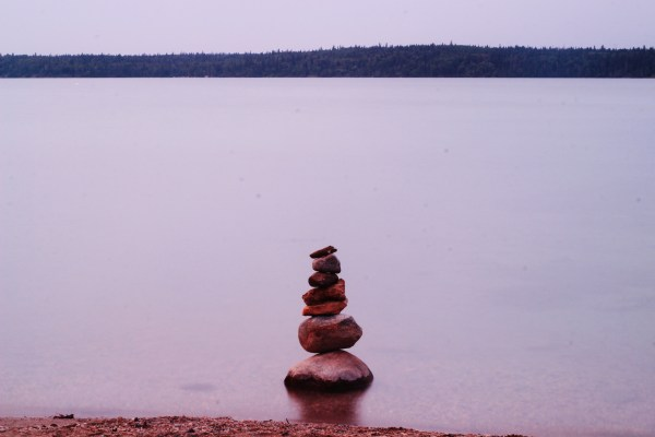 Stacked Stones at Clear Lake