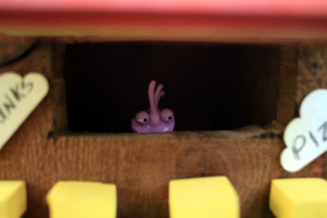 The ice-cream shoppe proprietor: Randal from Monsters, Inc.