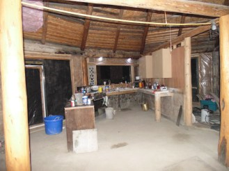 Looking west into kitchen/dining room