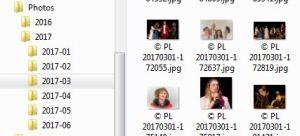 Classement des photos dans des dossiers par année et sous-dossiers par mois