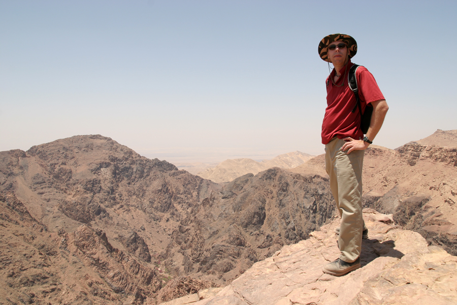 Atop a cliff overlooking The Monastery, Petra