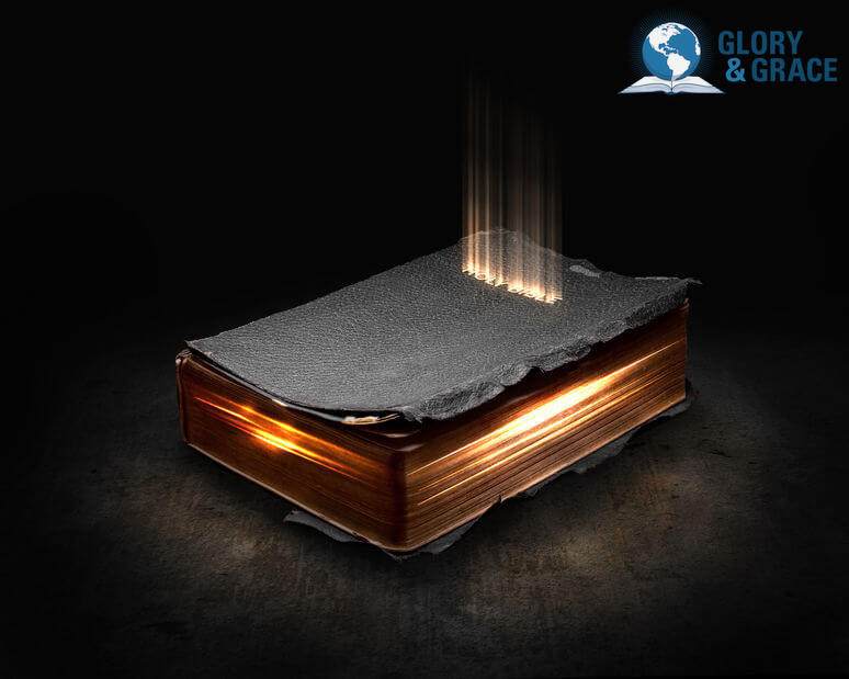Despising the Word image showing an a bible  glowing in flames of fire