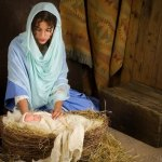 Mary the mother of Jesus picture nativity scene