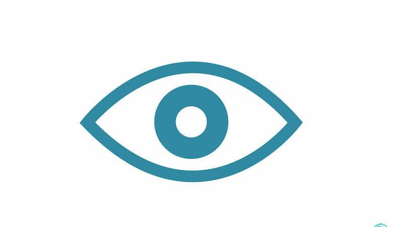 Spiritual eyes showing an eye icon
