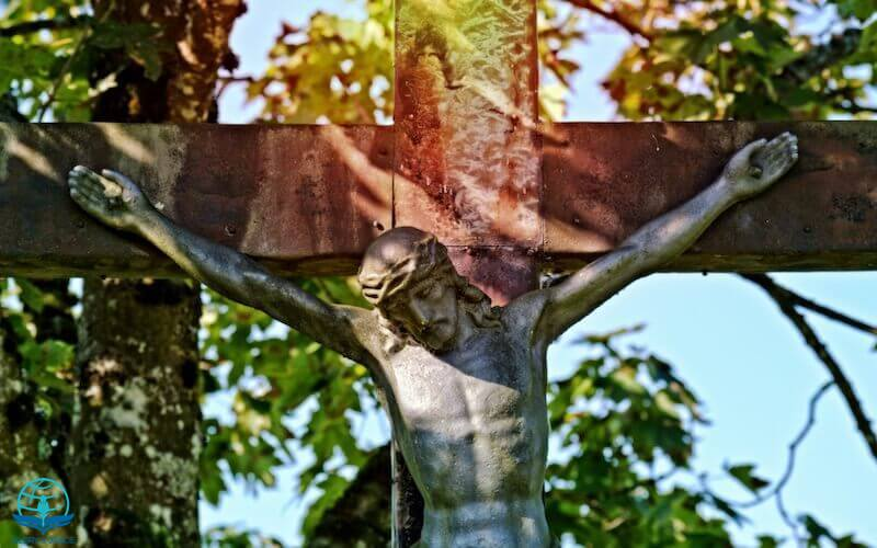 Not imputing their trespasses against them showing Jesus on the cross