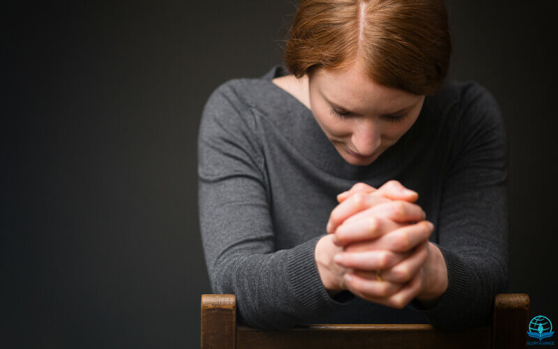 Righteous person's prayer has great power image showing a praying woman