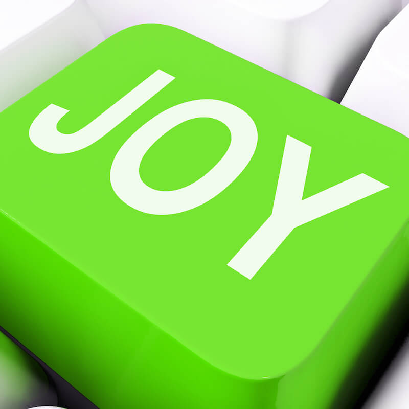 Rejoice in the Lord showing the letters of joy