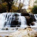 Peace like a river showing a water fall