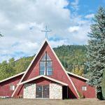 local church showing a church building