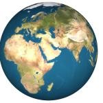 the lord by wisdom hath founded the earth showing the globe