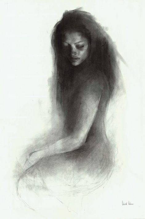 figurative art nude patrick palmer charcoal untitled - Gallery