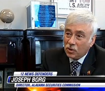 Joe Borg of the Alabama Securities Commission. From: WSFA news report.