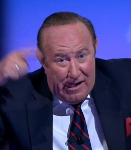 """Andrew Neil yesterday made the universal """"[batspit] crazy"""" gesture after trying to interview Alex Jones of InfoWars."""