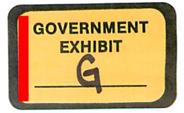 "The evidence sticker from ""Government Exhibit G"" in the criminal prosecution of AdSurfDaily Ponzi schemer Andy Bowdoin. (Red bar added by PP Blog.)"