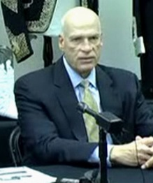 Zeek receiver Kenneth D. Bell at a Dec. 13, news conference in Lexington. N.C. Source: Screen shot from video at receivership website.