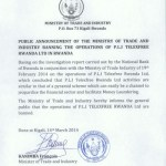 Government Of Rwanda, Citing Pyramid And Money-Laundering Concerns, Bans TelexFree Enterprise After Joint Probe With Nation's Central Bank