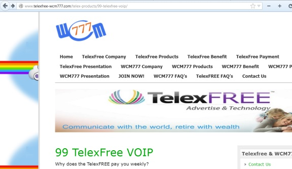 This site also is simultaneously promoting TelexFree and WCM777.