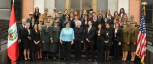 Female police officials from multiple countries, including Brazil, received U.S. training in Peru in 2012. Photo source: DHS.