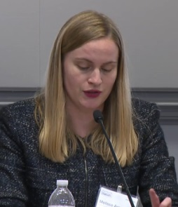 Melissa Armstrong of the SEC at an FTC event today. Source: FTC video.