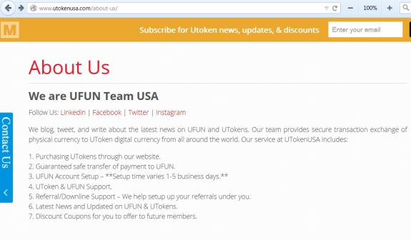"This UFunClub/UToken promoters' group claimed recruits could purchase UTokens through its website and that the promoters ""Guaranteed safe transfer of payment to UFUN."""
