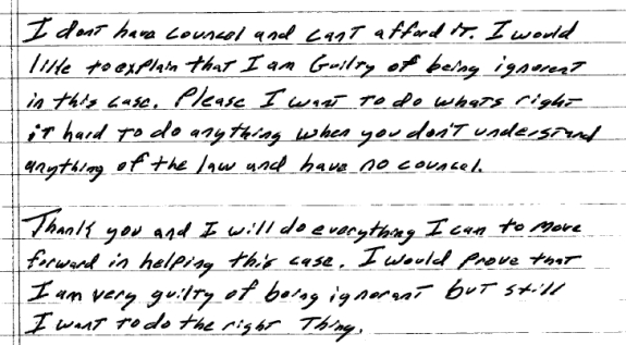 """In a letter to a U.S. Magistrate Judge, Troy Barnes of """"The Achieve Community"""" claims he is ignorant and will prove it."""